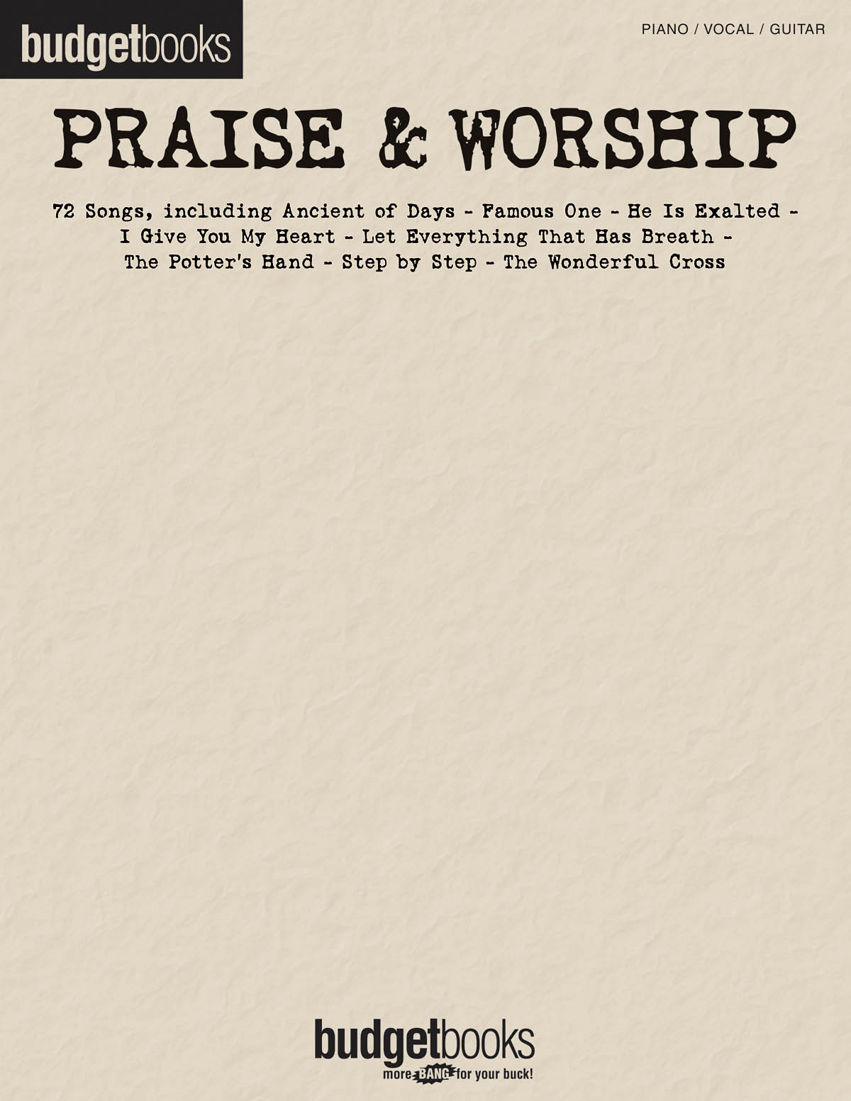 Budgetbooks: Praise and Worship: Piano  Vocal  Guitar: Mixed Songbook