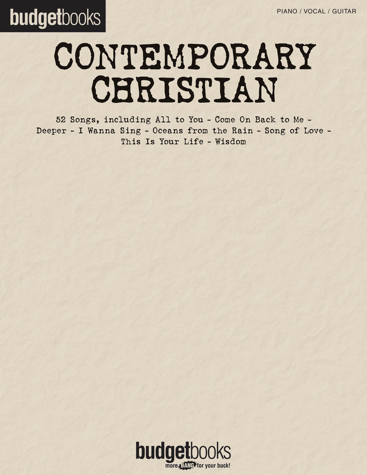 Contemporary Christian: Piano  Vocal and Guitar: Mixed Songbook
