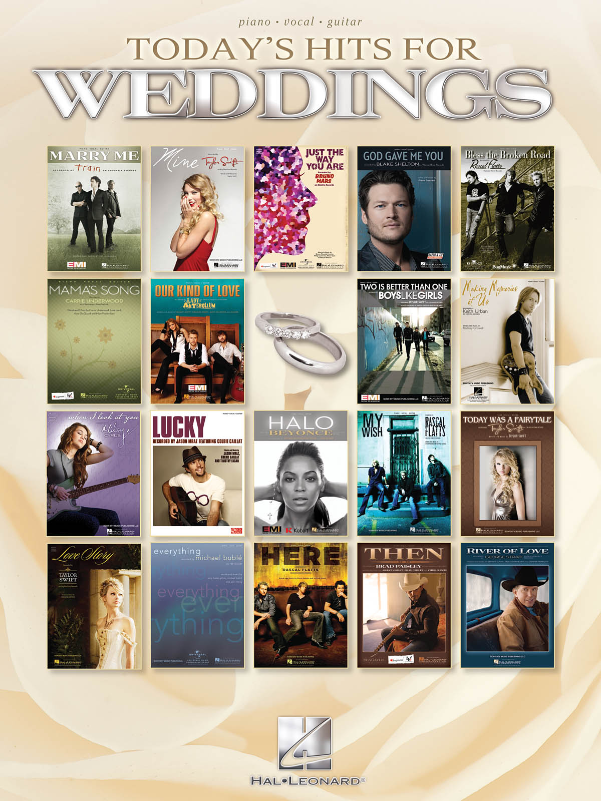 Today's Hits for Weddings: Piano  Vocal and Guitar: Mixed Songbook