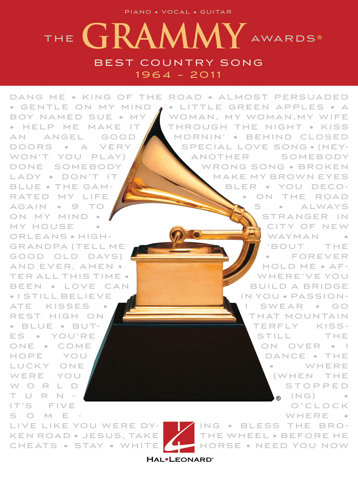 The Grammy Awards Best Country Song 1964 - 2011: Piano  Vocal and Guitar: Mixed