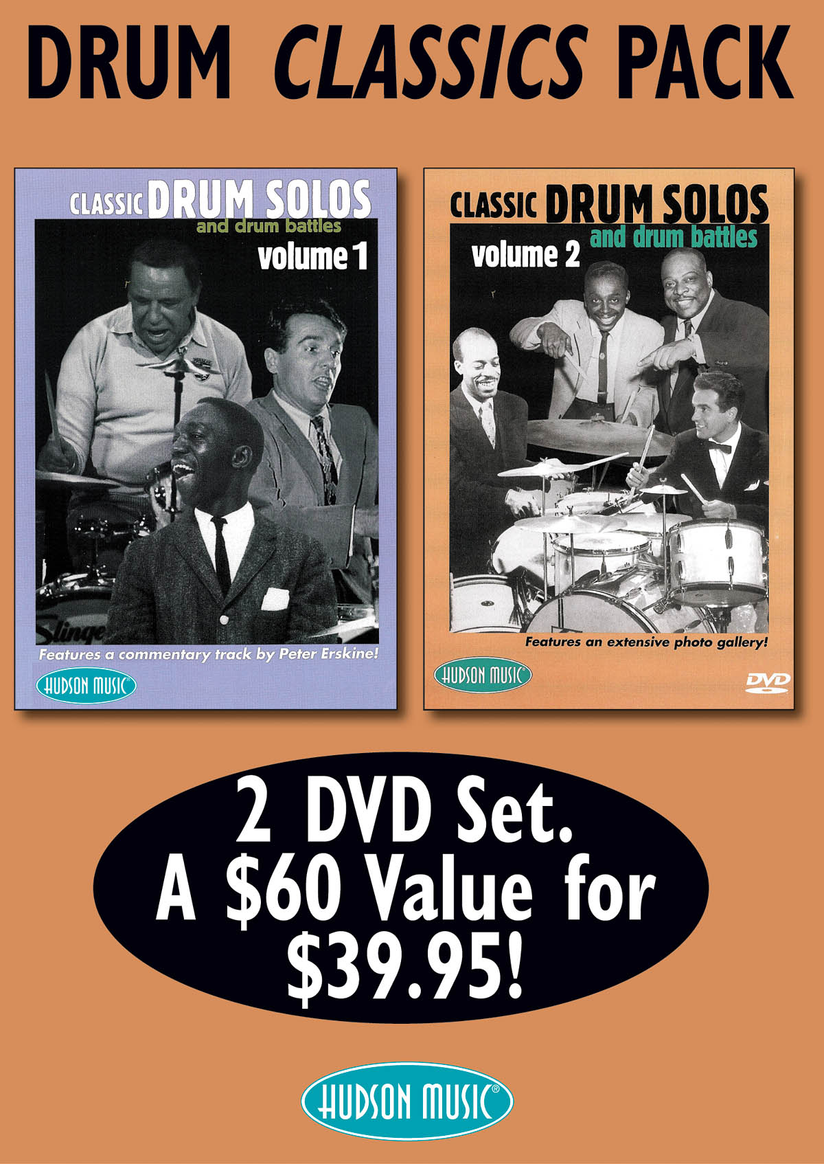 Classic Drum Solos And Drum Battles Vol. 1 And 2: Drums: Recorded Performance