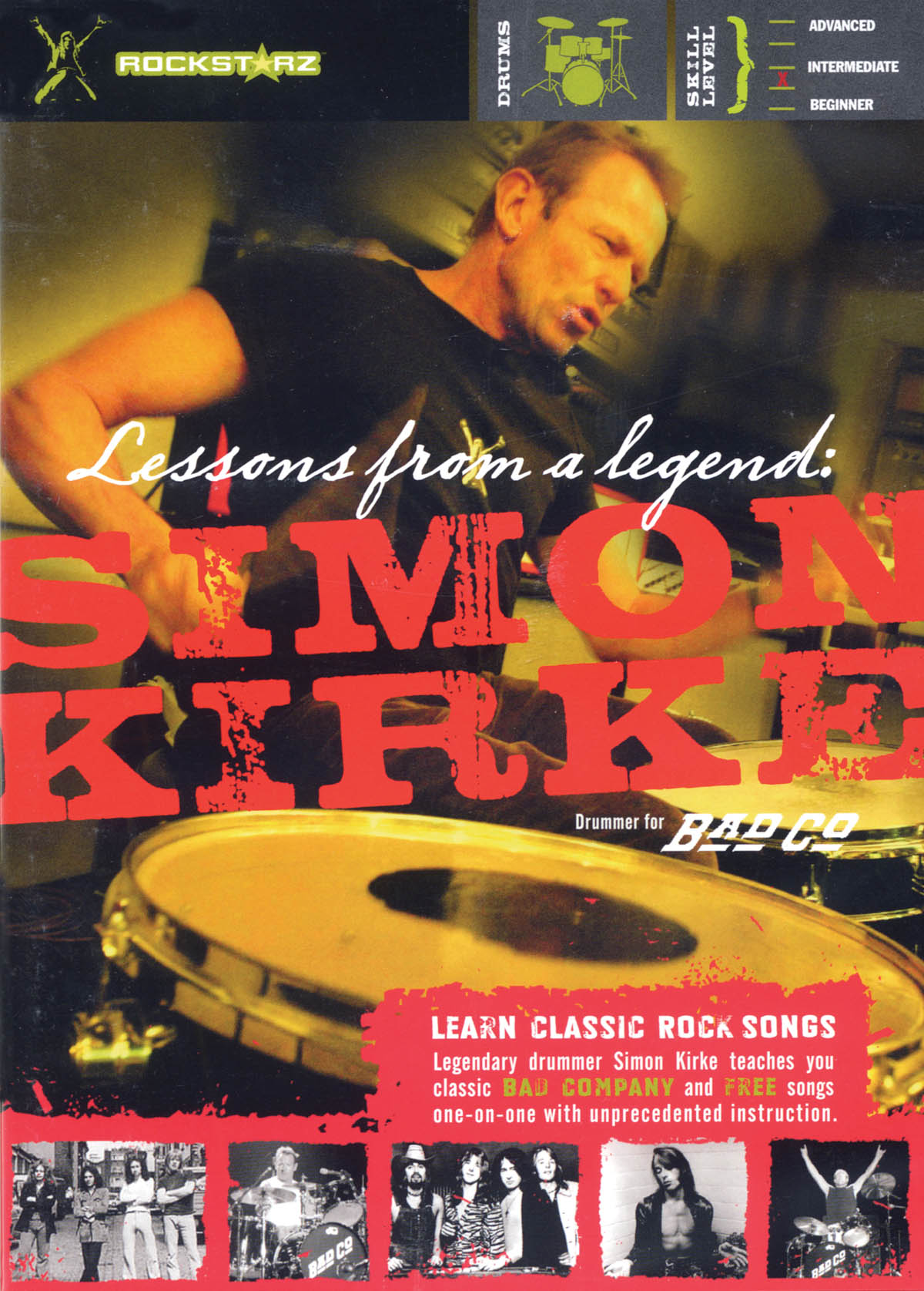 Simon Kirke - Lessons from a Legend: Drums: Instrumental Tutor
