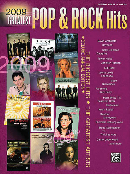 2009 Pop & Rock Sheet Music Play: Piano  Vocal and Guitar: Mixed Songbook