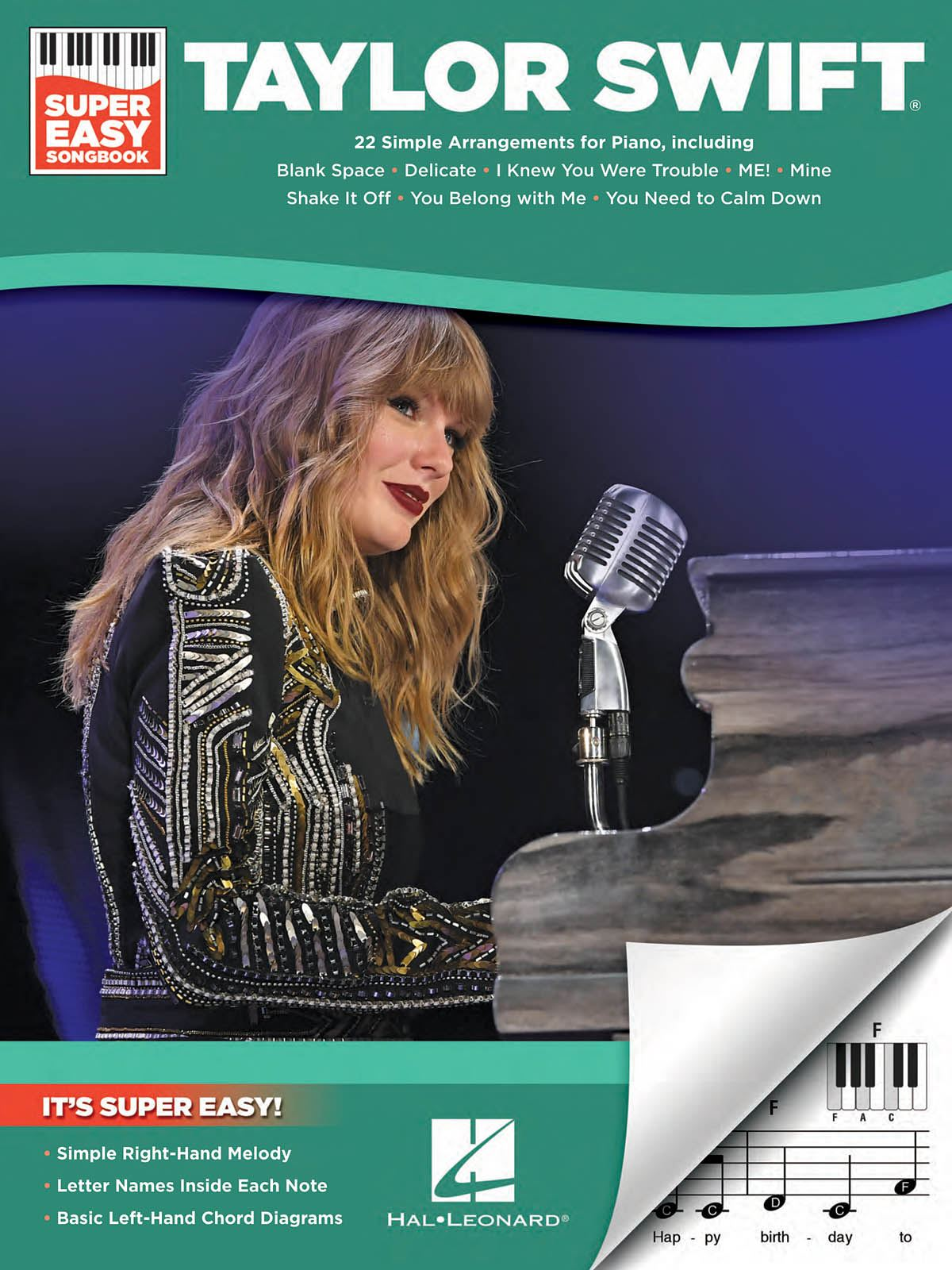 Taylor Swift: Taylor Swift - Super Easy Songbook: Piano Solo: Artist Songbook