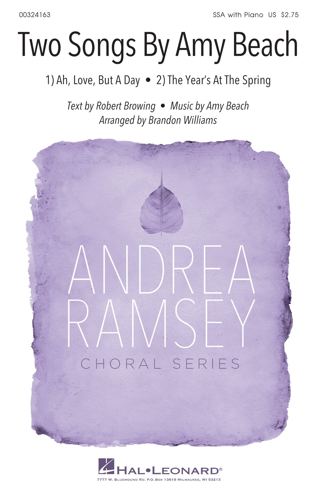 Amy Beach: Two Songs by Amy Beach: Upper Voices a Cappella: Vocal Score