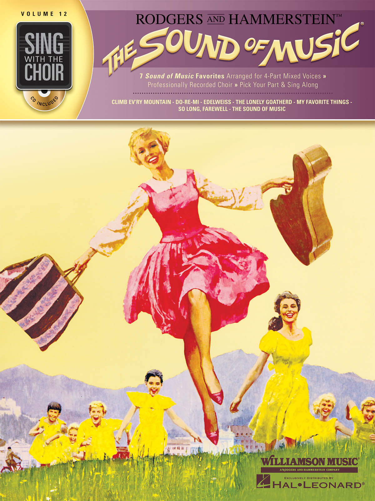 Sing With The Choir Volume 12: The Sound Of Music. CD  Partitions pour SATB