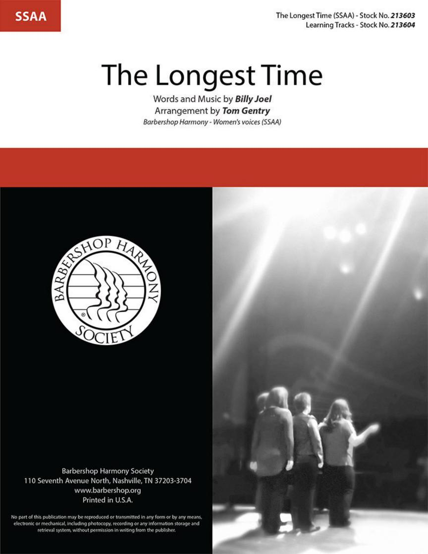 Billy Joel: The Longest Time: Upper Voices a Cappella: Vocal Score