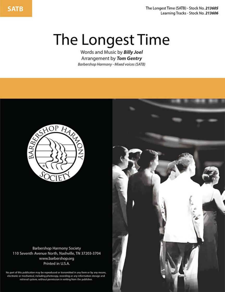 Billy Joel: The Longest Time: Mixed Choir a Cappella: Vocal Score