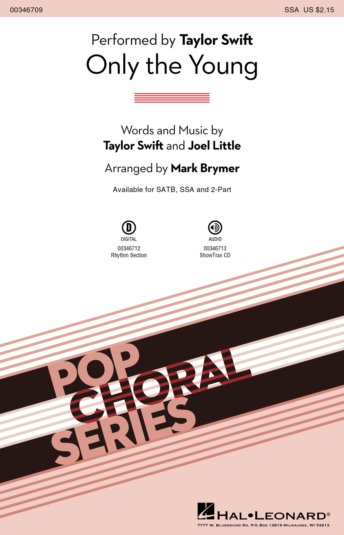 Taylor Swift: Only The Young: Upper Voices a Cappella: Vocal Score