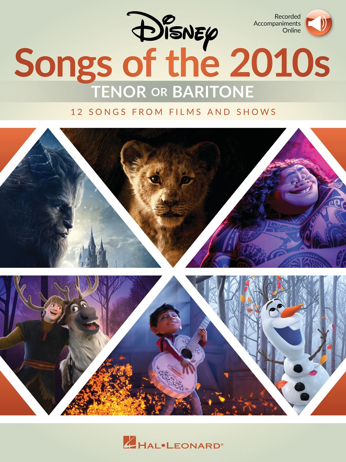 Disney Songs of the 2010s: Tenor or Baritone: Vocal and Piano: Vocal Album