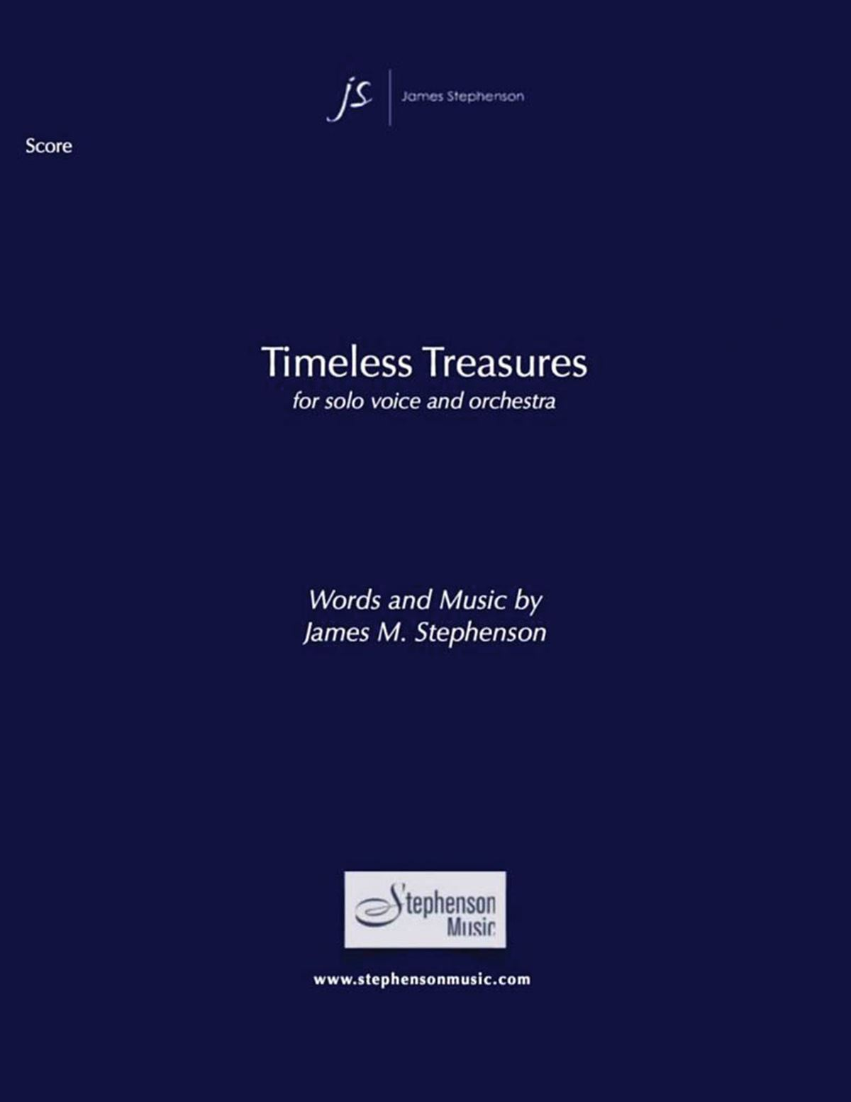 Jim Stephenson: Timeless Treasures: Voice and Orchestra: Score and Parts