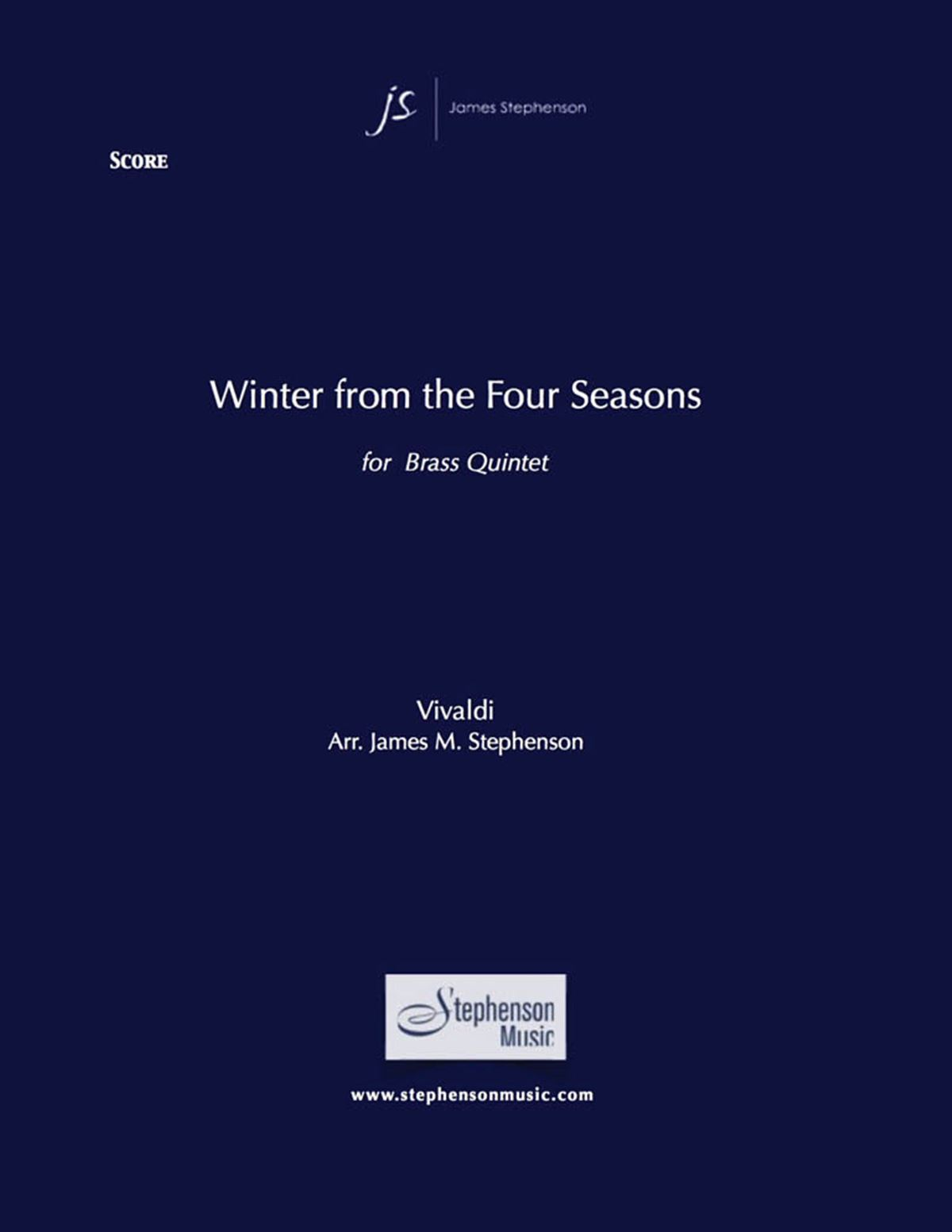 Antonio Vivaldi: Winter from The Four Seasons: Brass Ensemble: Score and Parts