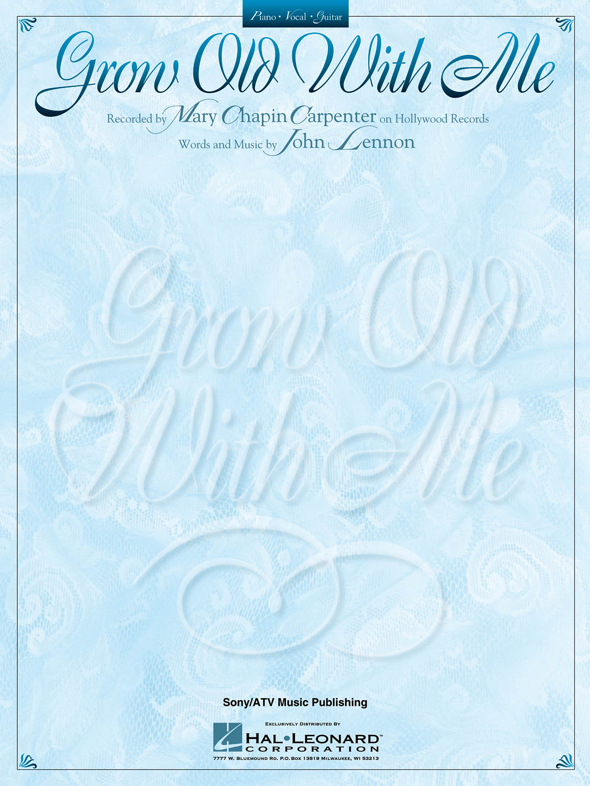 Mary Chapin Carpenter John Lennon: Grow Old With Me: Vocal and Piano: Single