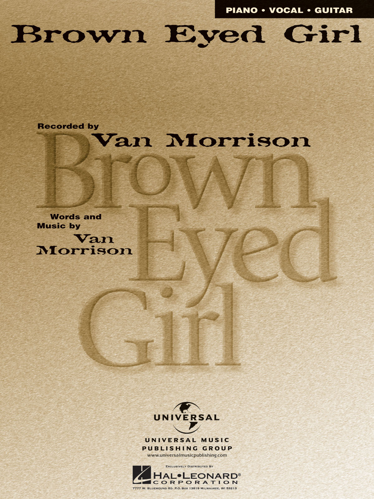 Van Morrison: Brown Eyed Girl: Vocal and Piano: Single Sheet