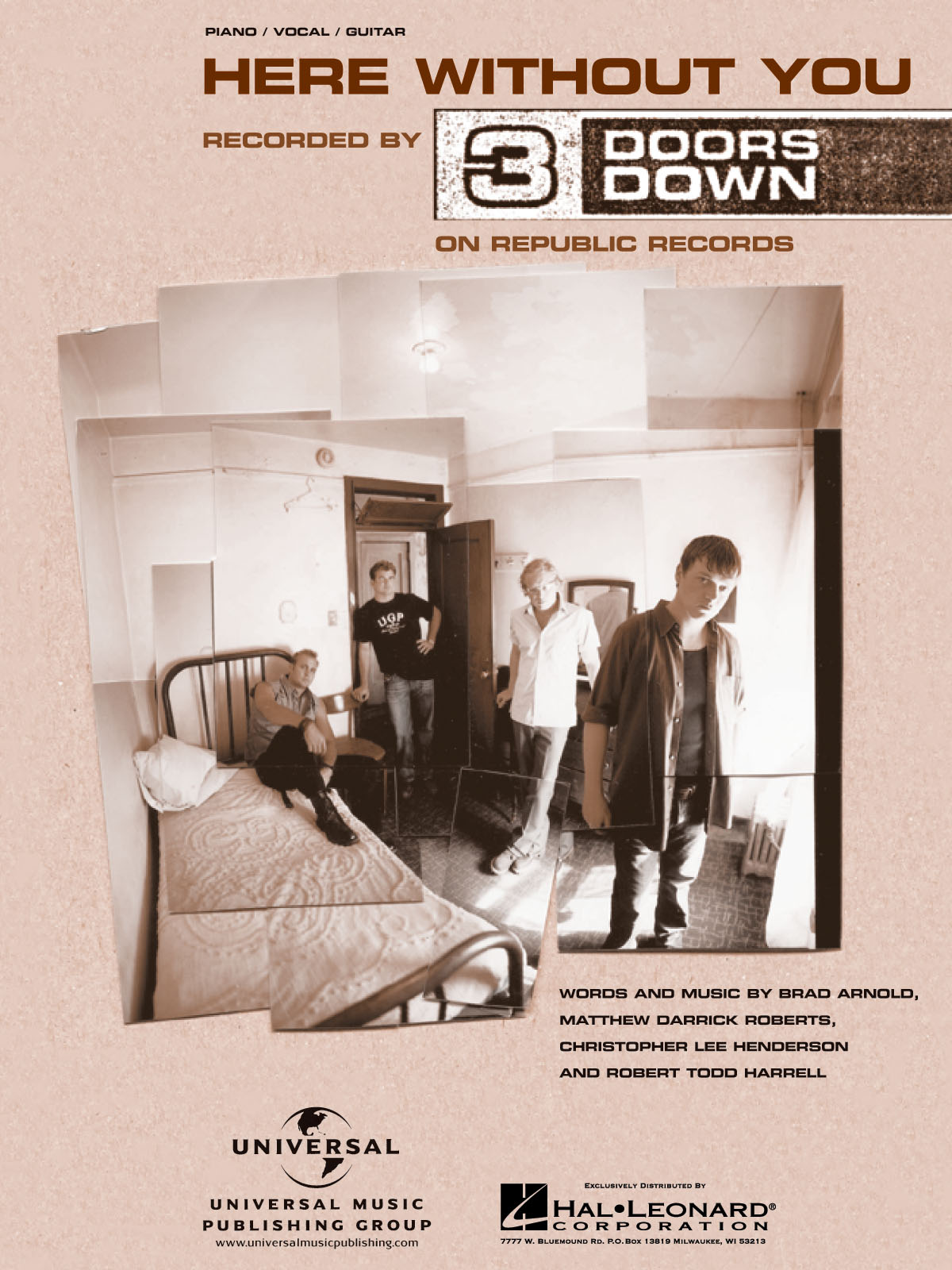 3 Doors Down: Here Without You: Piano  Vocal and Guitar: Album Songbook