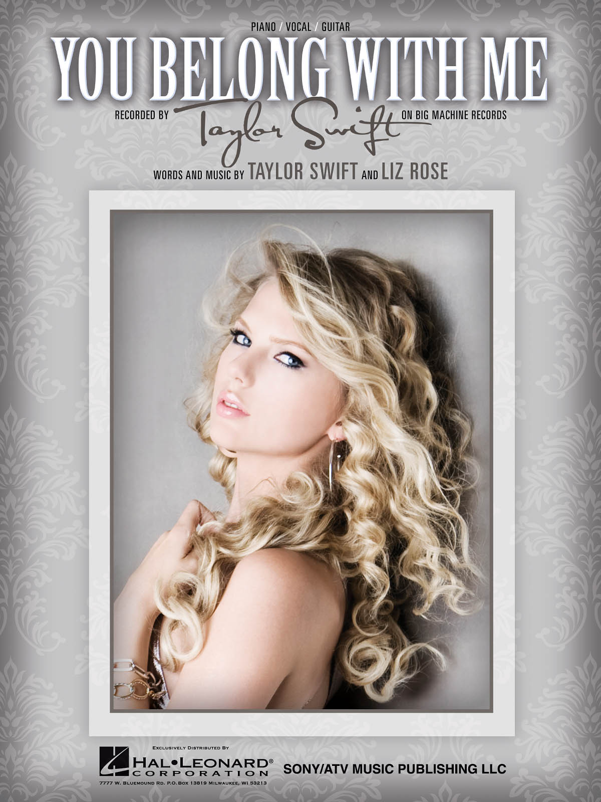 Taylor Swift: You Belong with Me: Piano  Vocal and Guitar: Mixed Songbook