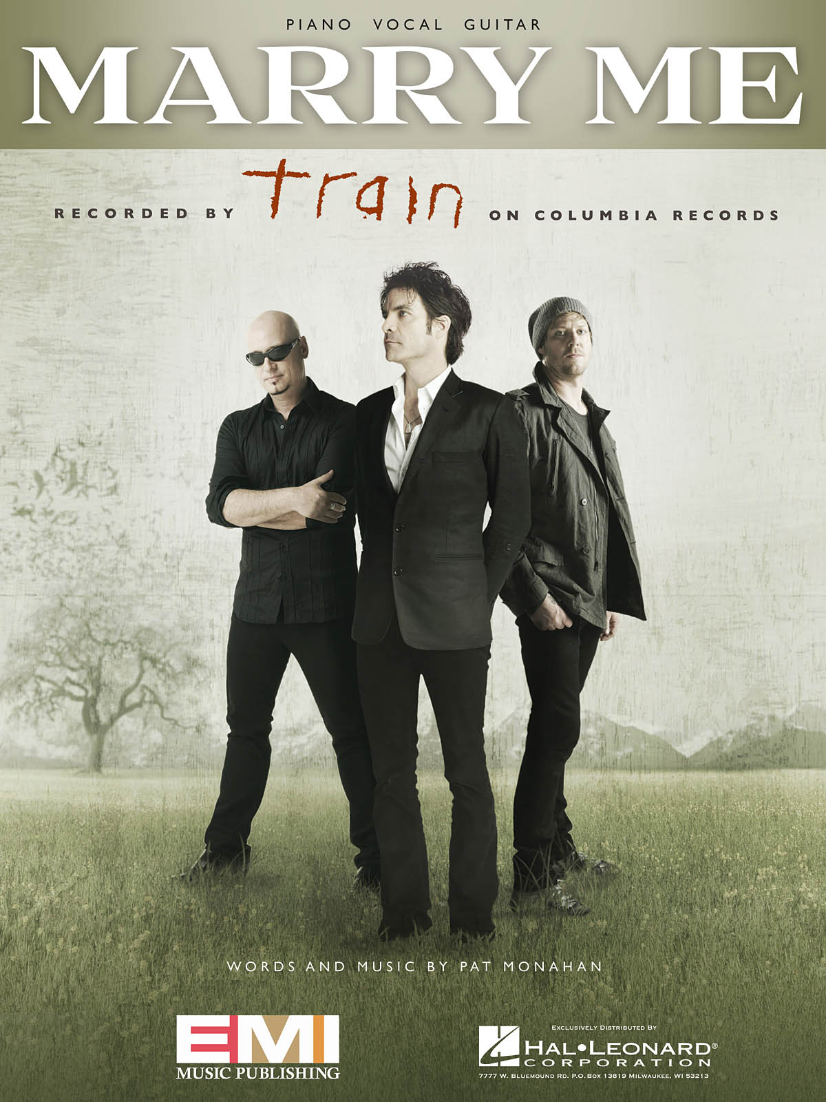 Train: Marry Me: Piano  Vocal and Guitar: Mixed Songbook