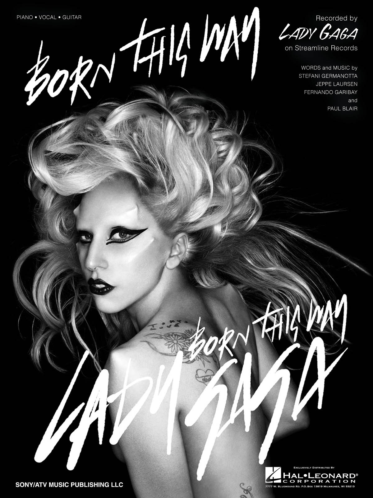 Lady Gaga: Born This Way: Piano  Vocal and Guitar: Mixed Songbook
