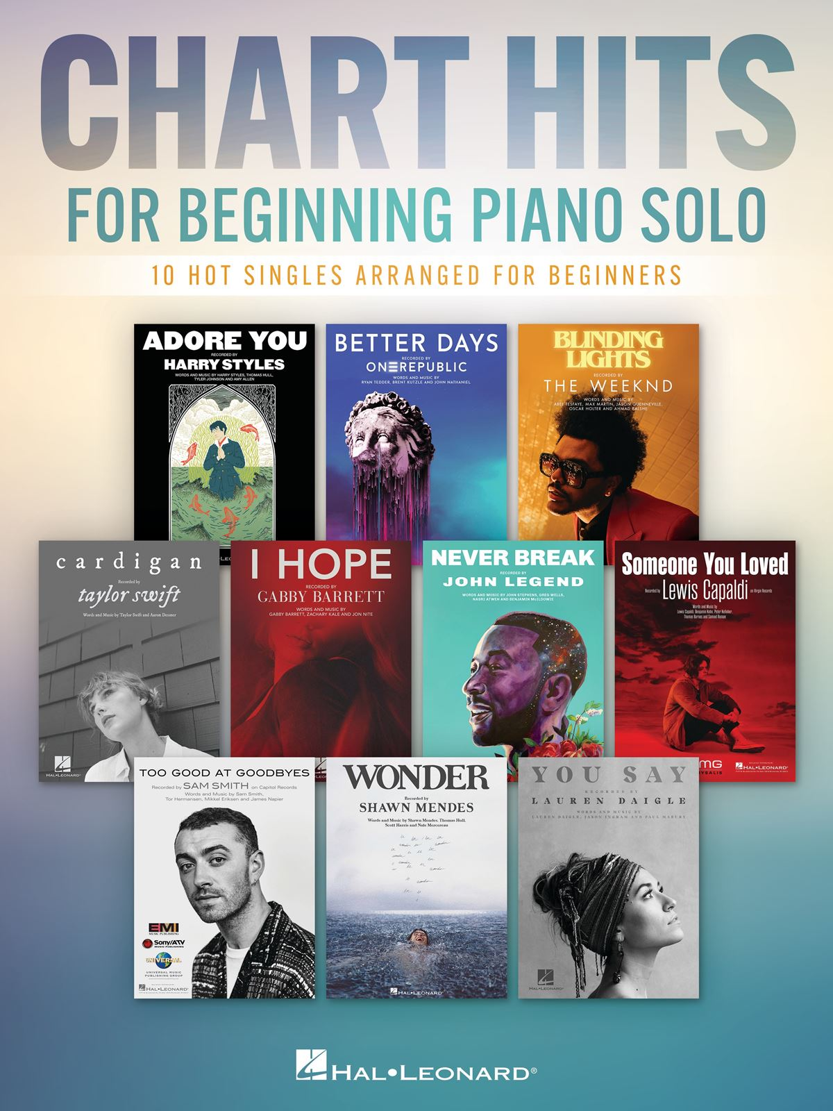 Chart Hits for Beginning Piano Solo: Easy Piano: Instrumental Album