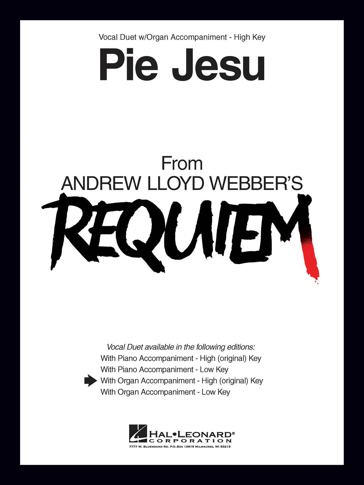 Andrew Lloyd Webber: Pie Jesu (from Requiem): Vocal Duets: Vocal Album
