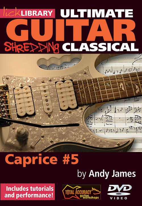 Andy James: Shredding Classical - Caprice #5: Guitar Solo: DVD