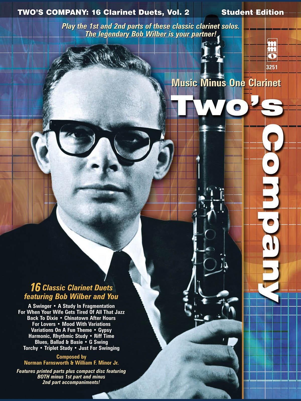 Bob Wilbur: Two's Company: 16 Clarinet Duets: Clarinet Duet: Instrumental Album