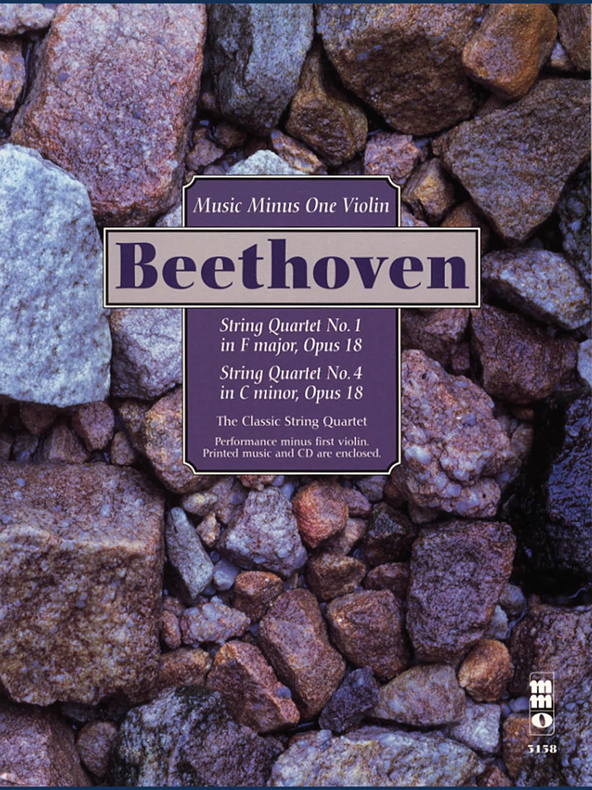 Ludwig van Beethoven: String Quartets  Op. 18: No. 1 in F Major and No. 4: Violin: