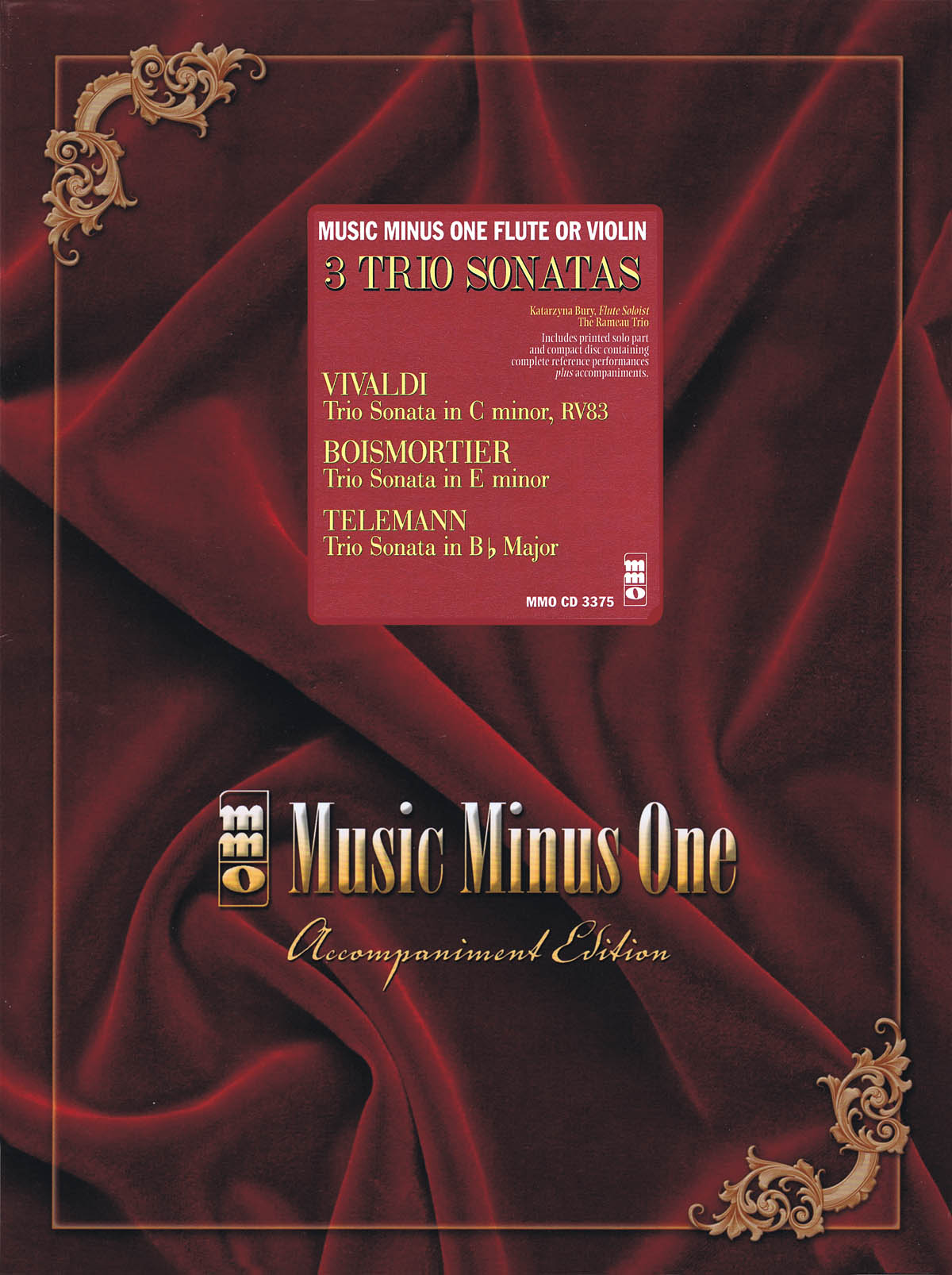 Antonio Vivaldi Boismorter Georg Philipp Telemann: 3 Trio Sonatas: Vivaldi