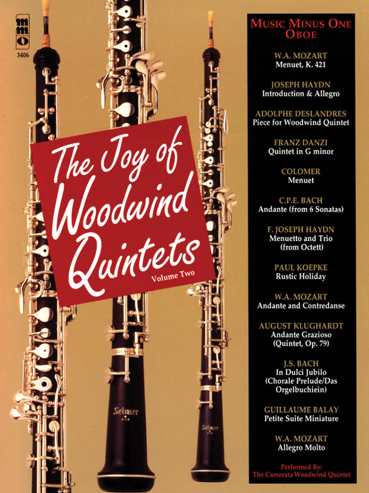 The Joy of Woodwind Quintets - Volume Two: Oboe Solo: Instrumental Album