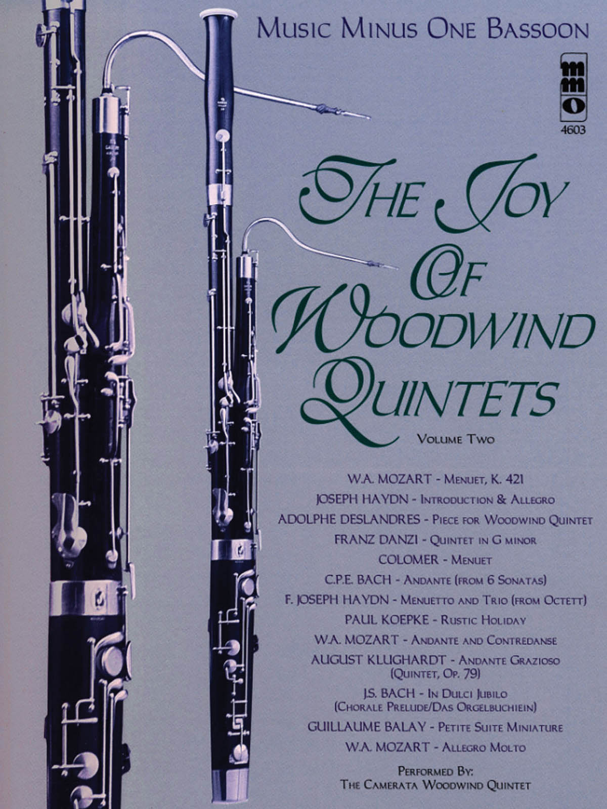The Joy of Woodwind Quintets - Volume Two: Bassoon Solo: Instrumental Album