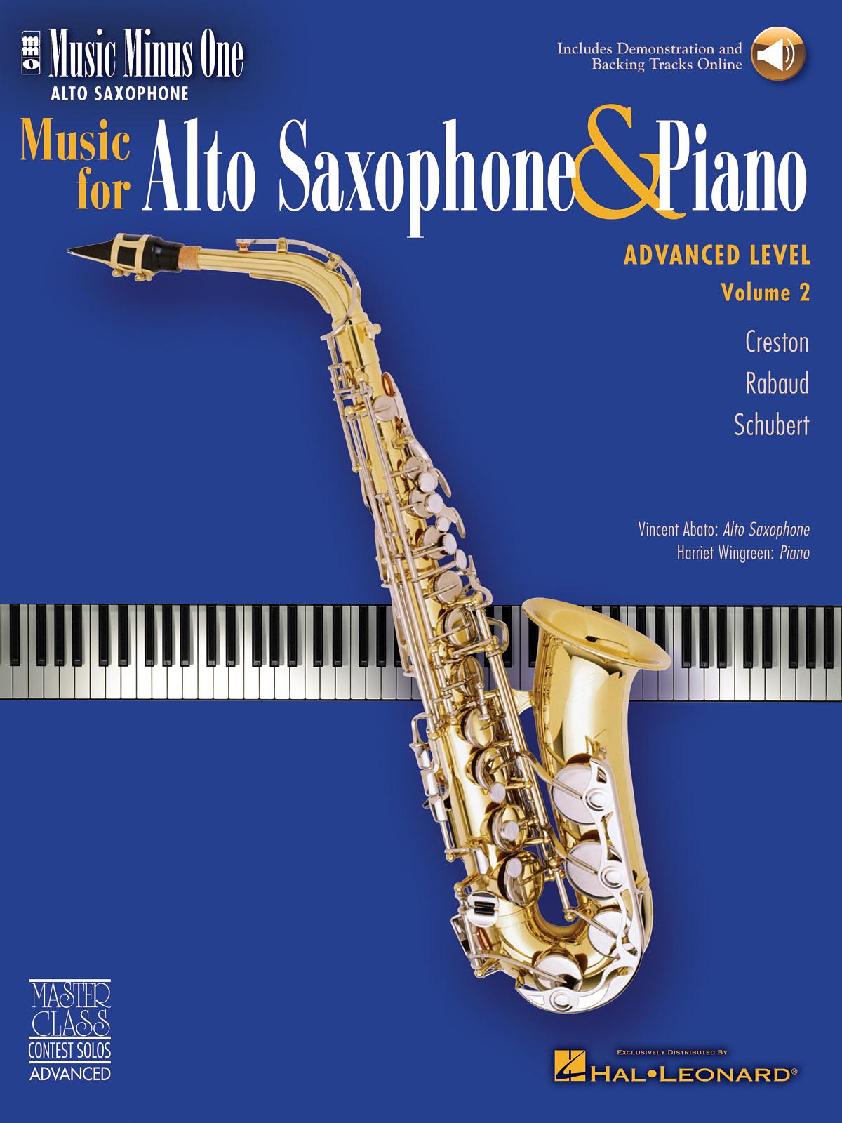 Advanced Alto Sax Solos - Volume 2: Alto Saxophone: Instrumental Album