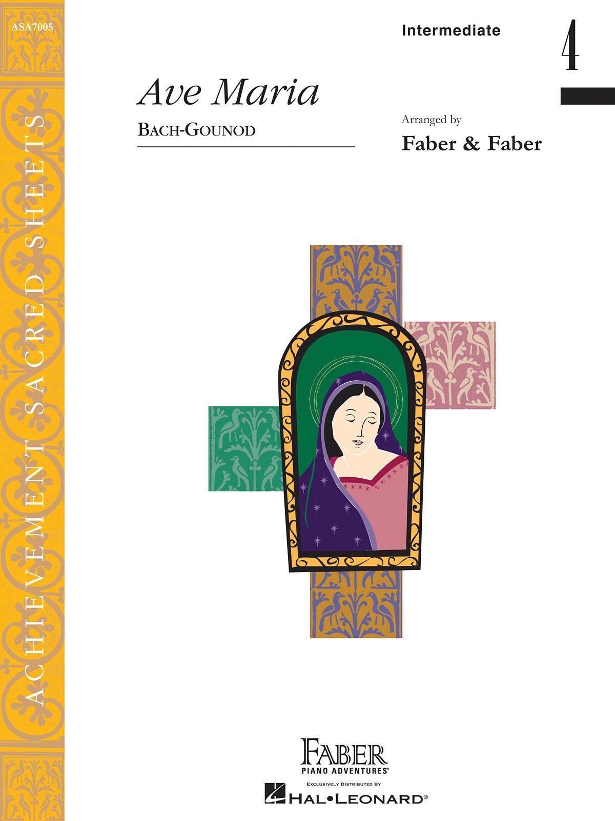 Charles Gounod Johann Sebastian Bach: Ave Maria Intermediate-Level 4 Piano Solo: