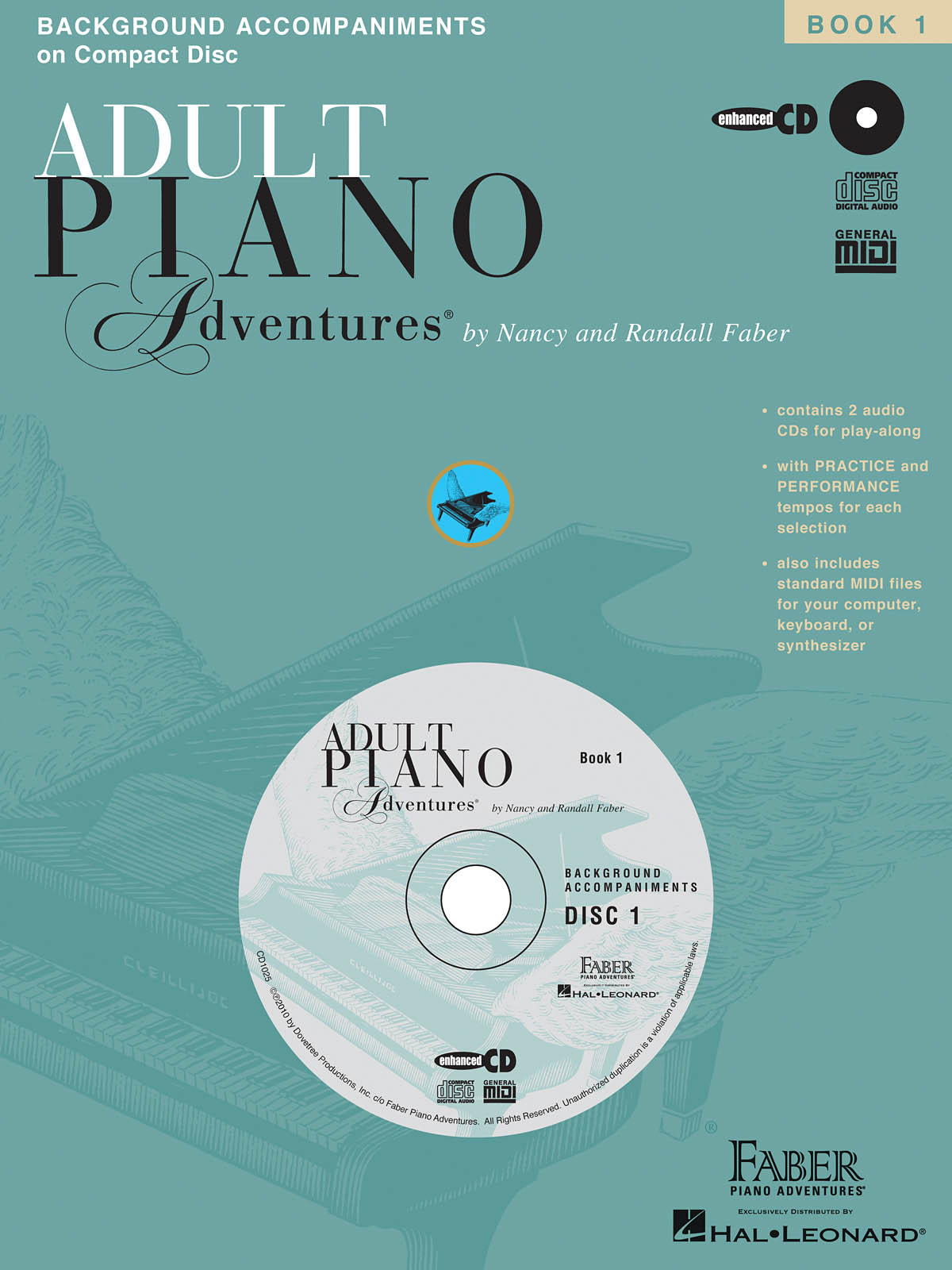 Nancy Faber Randall Faber: Adult Piano Adventures All-in-One Lesson Book 1 CD: