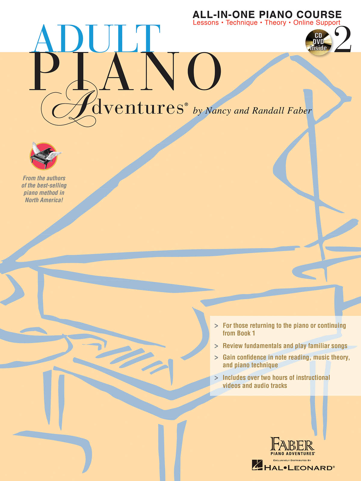 Nancy Faber Randall Faber: Adult Piano Adventures All-in-One Book 2 + CD: Piano: