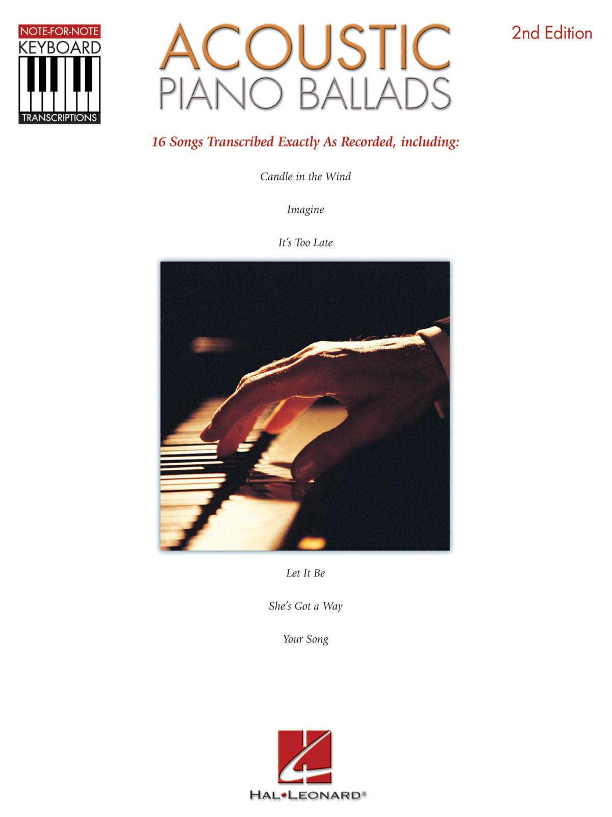 Acoustic Piano Ballads: Piano: Vocal Album