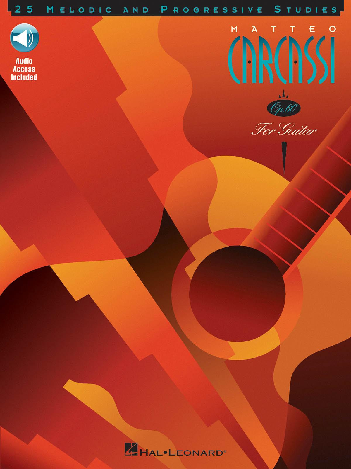 Matteo Carcassi 25 Melodic And Progressive Studies Op.60 Gtr Book/Cd