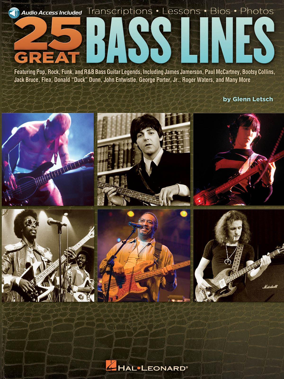 25 Great Bass Lines: Guitar Solo: Instrumental Tutor