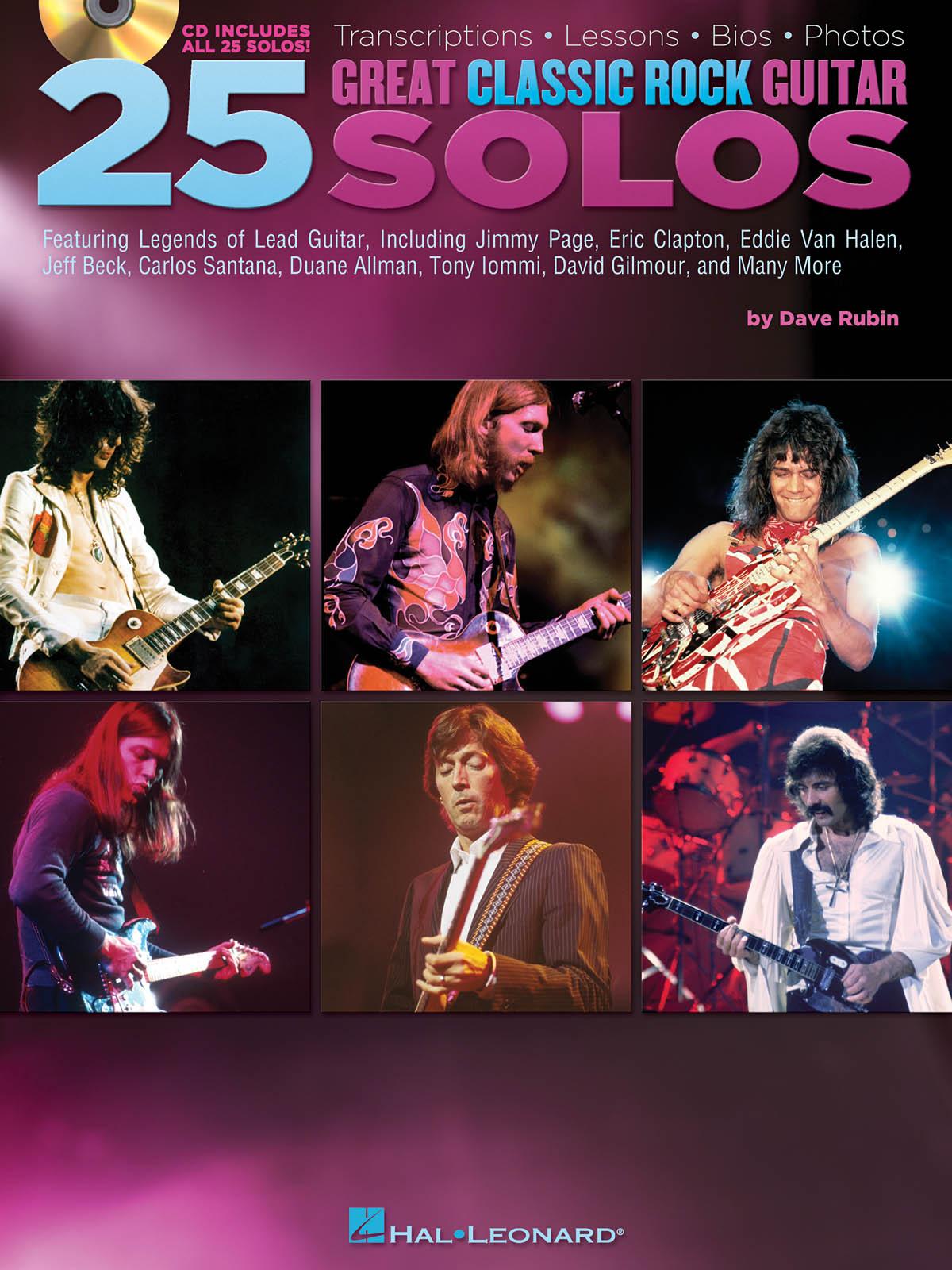 25 Great Classic Rock Guitar Solos: Guitar Solo: Instrumental Tutor