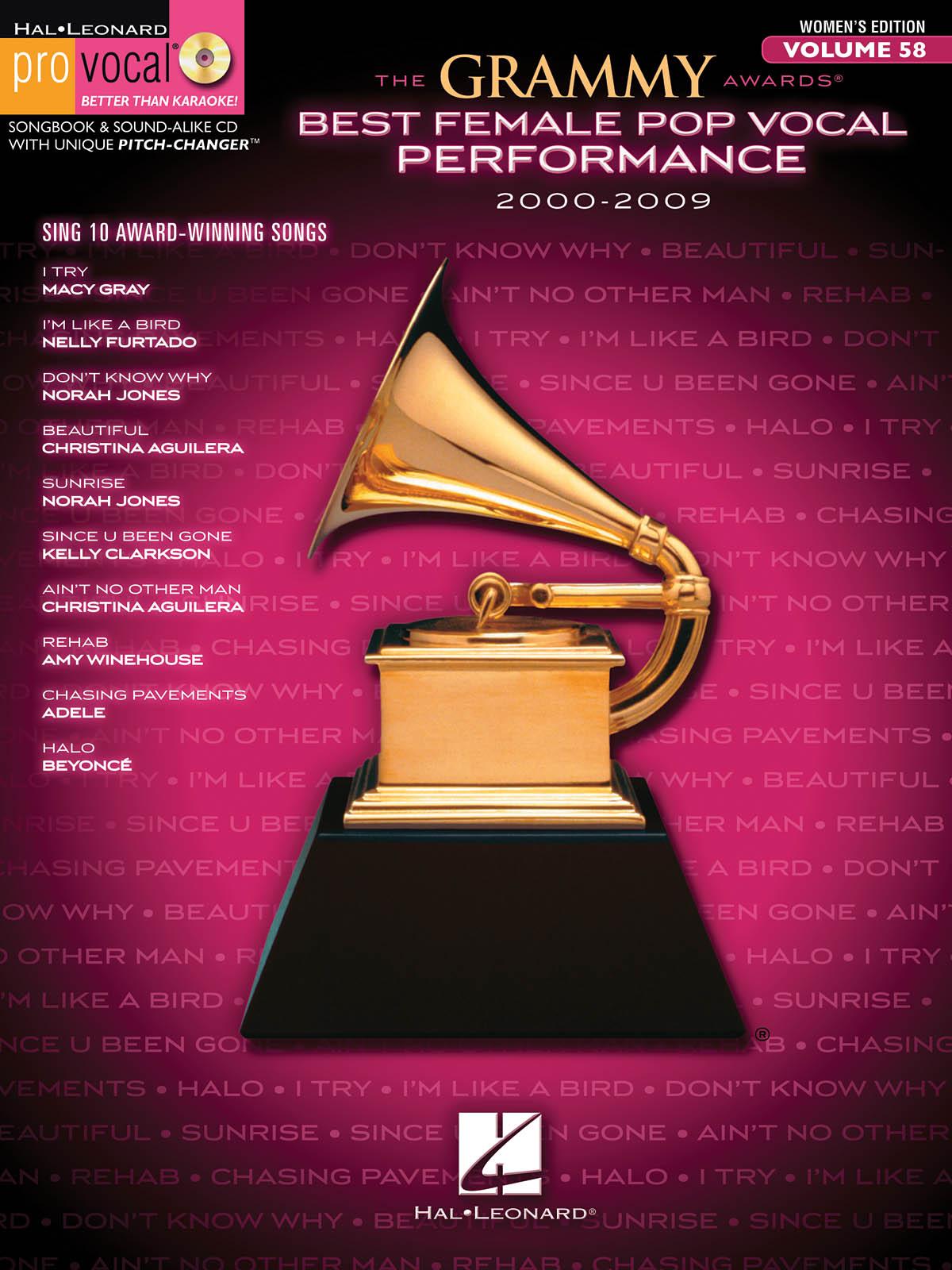 The Grammy Awards Best Female Pop Vocal 2000-2009: Melody  Lyrics and Chords: