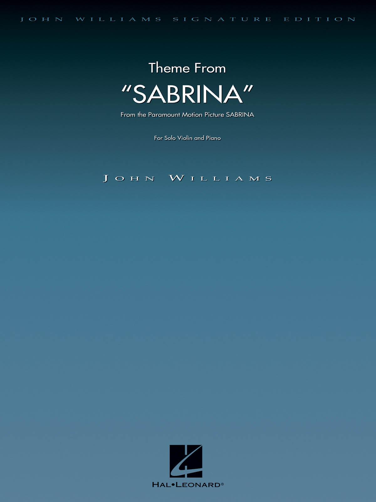 John Williams: Theme from Sabrina: Violin and Accomp.: Instrumental Work