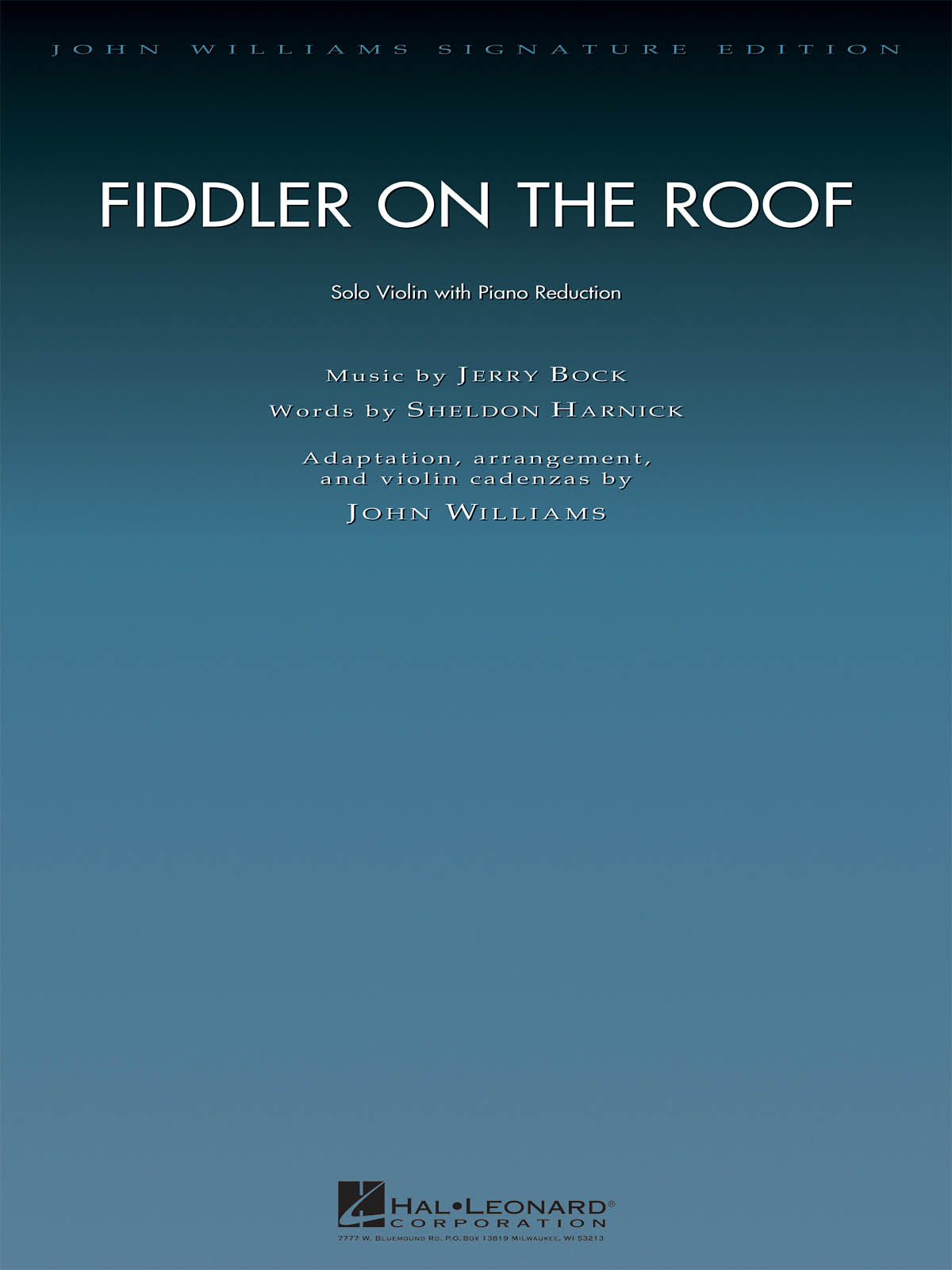 Jerry Bock Sheldon Harnick: Fiddler on the Roof: Violin Solo: Score and Parts