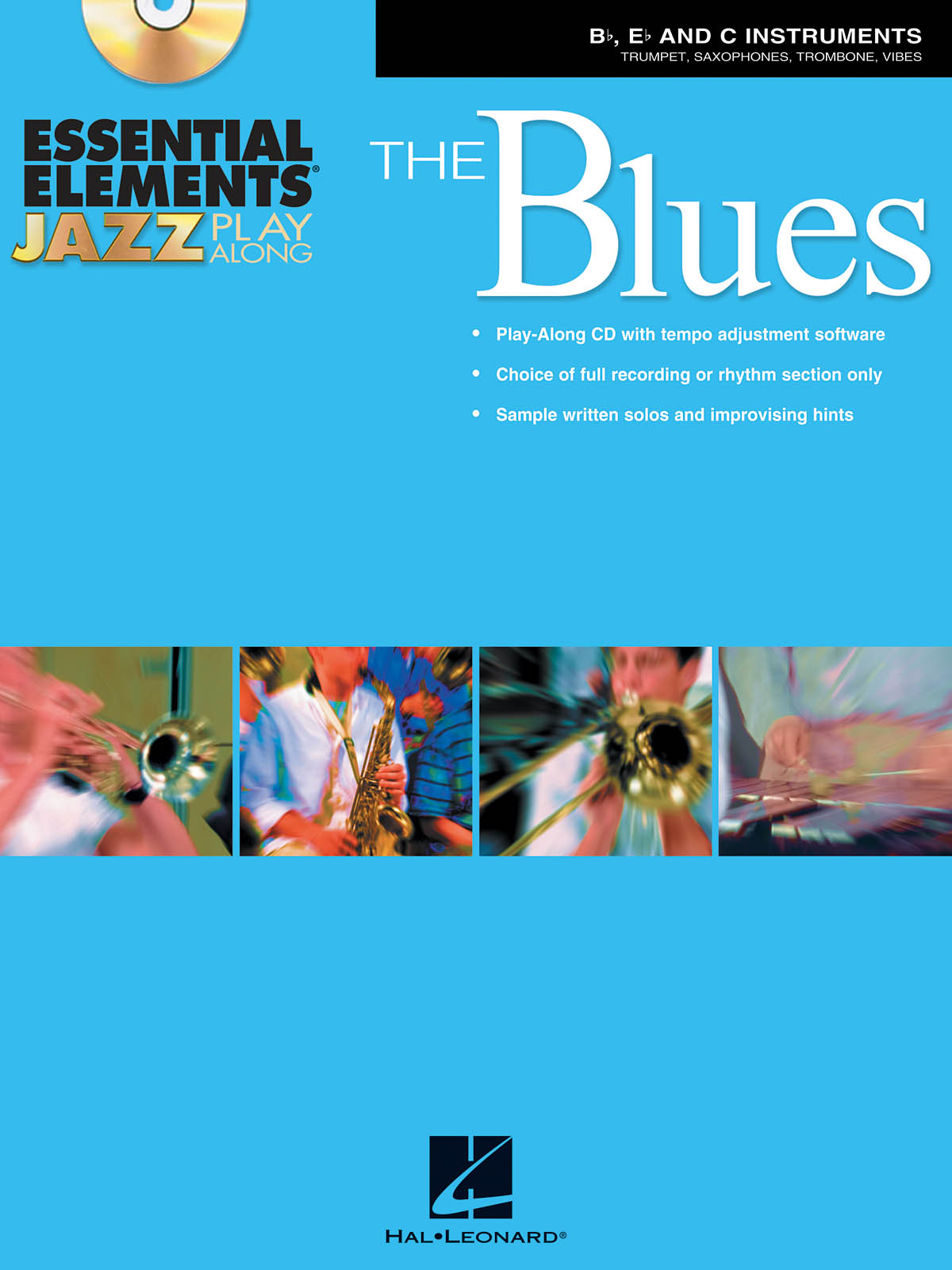 Essential Elements Jazz Play Along - The Blues: Jazz Ensemble: Book & CD