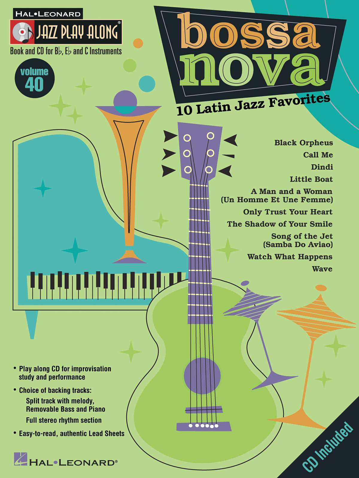 Bossa Nova - 10 Latin Jazz Favorites: Jazz Ensemble: Instrumental Album