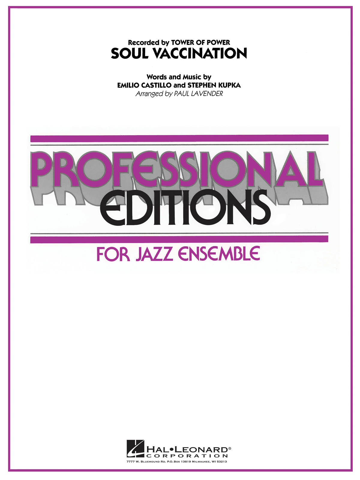 Emilio Castillo: Soul Vaccination: Jazz Ensemble: Score
