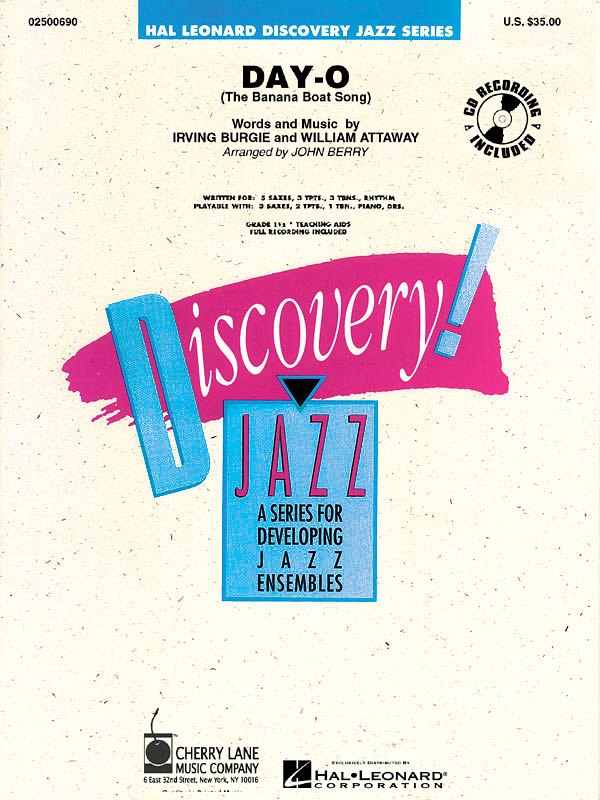 Harry Belafonte: Day-O (The Banana Boat Song): Jazz Ensemble: Score and Parts