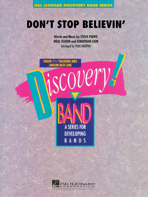 Jonathan Cain Neal Schon Steve Perry: Don't Stop Believin': Concert Band: Score