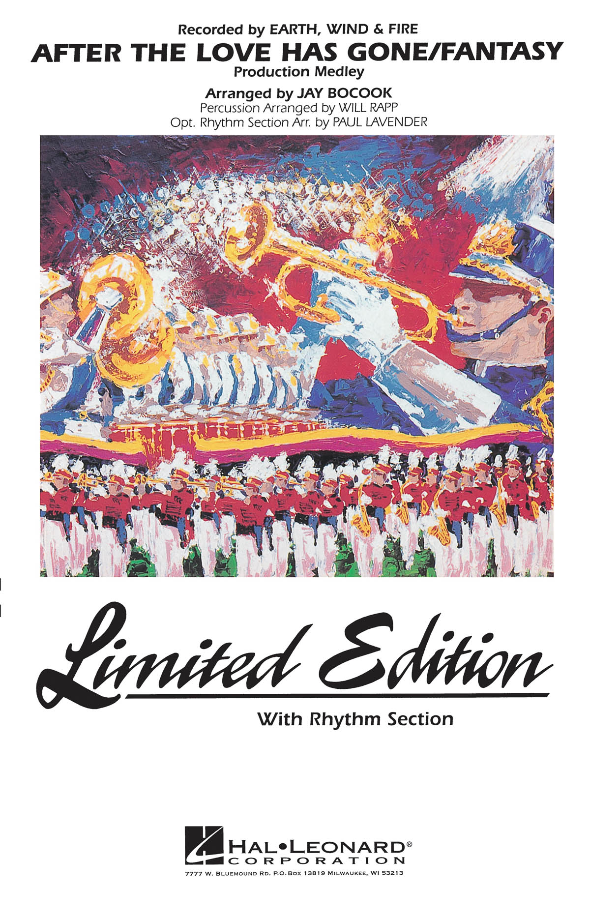 Earth  Wind & Fire: After The Love Has Gone / Fantasy: Marching Band: Score &