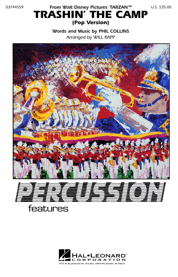 Phil Collins: Trashin' the Camp (Percussion Feature): Marching Band: