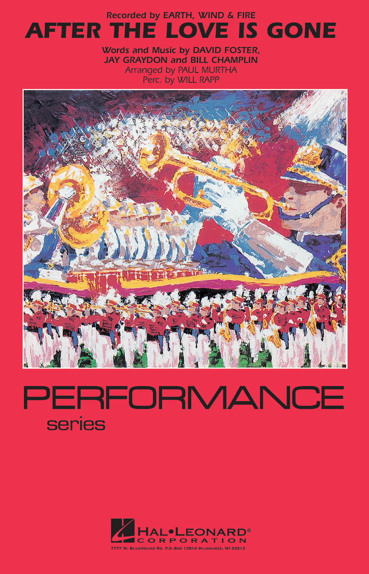 Earth  Wind & Fire: After the Love Has Gone: Marching Band: Score & Parts