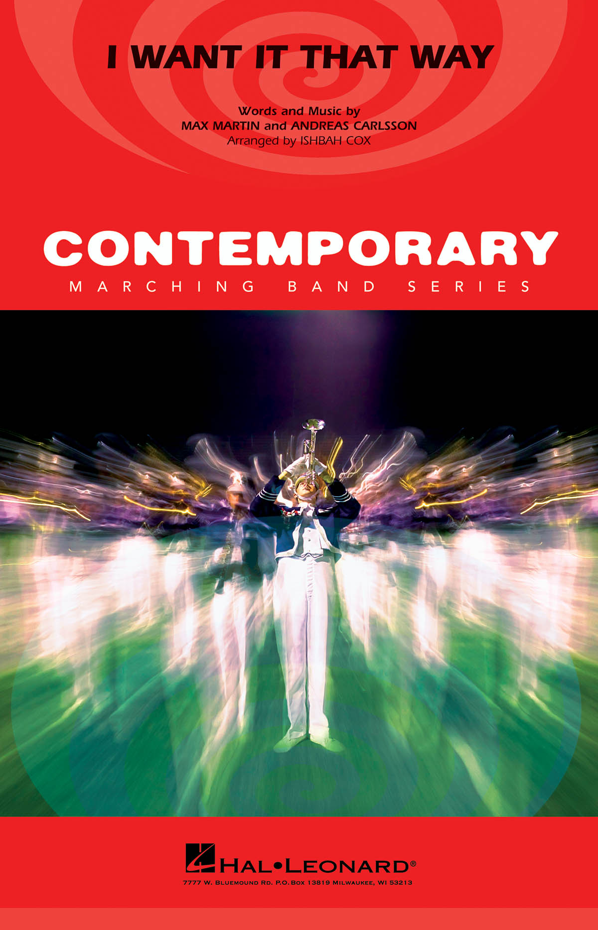 Andreas Carlsson Max Martin: I Want It That Way: Marching Band: Score and Parts